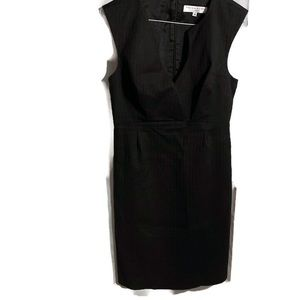 Trina Turk, Size 10 Black Sleeveless Sheath Dress.